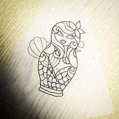 A mermaid Russian doll £80 Inbox or csll 01902 61 84 33 to book #mermaidtattoos #tattoo #tattoos #tattoodesign #tattoodesigns #mermaidtattoo #mermaid #Russiandoll #russiandolls #russiandollstattoo...