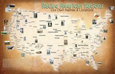 Native American Nations Map