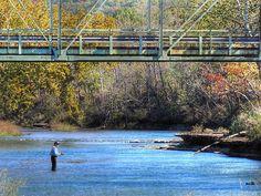 tahlequah oklahoma. Combs bridge. Illinois River.