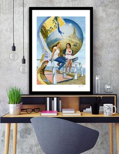Discover «Blackpool Old and New», Exclusive Edition Fine Art Print by Jayne Walsh - From $25 - Curioos