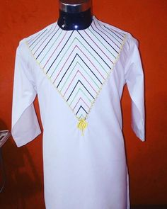 African Mens Shirt with nice embroidery SHIRT ONLY Made from scratch with quality African fabrics. African Dresses Men, African Clothing For Men, African Shirts, African Attire, African Wear, African Dashiki, Nigerian Men Fashion, African Men Fashion, Kurta Designs