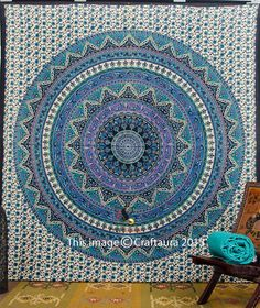 Hippie Tapestry Mandala Tapestry Indian Wall Tapestry Bedspread Bedding Bohemian