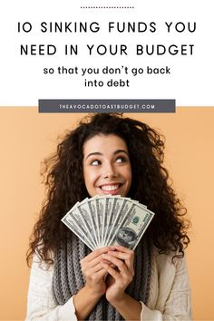 Sinking funds are truly budget changing. They are all of the non-monthly expenses that we often forget to budget for. So when the times comes around to put $500 down on those new tires you knew you would need, you'll likely turn to a credit card. Instead, plan ahead by contributing monthly to sinking funds, so you have the cash when the time comes. Here are 10 of the top sinking funds you've forgotten that need to be in your budget in order for you to get out of debt and save more money. Ways To Save Money, Money Tips, How To Make Money, Money Hacks, Opening An Ira, Sinking Funds, Lose Your Mind, Attract Money, Manifesting Money