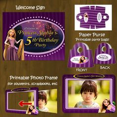 Tangled Rapunzel Printable Birthday Party by SplashboxPrintables, $27.00