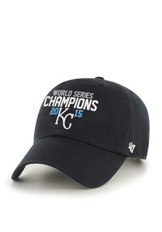 ad32643daf7 KC Royals Black 2015 World Series Champs Clean Up Hat http   www.