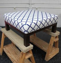 I hope to one day be at this skill level.   Upholstered ottoman out of coffee table
