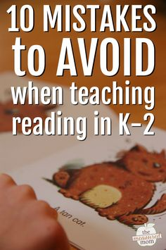 Teaching reading in kindergarten and up isn't always simple. Here are some important mistakes to avoid when you teach reading! #teachingreading #kindergarten #firstgrade #secondgrade