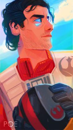Poe Dameron from Star Wars Episode VII The Force Awakens | Fanart from Star Wars Episode VII - The Force Awakens #kyloren #emokyloren #kylux #reylo #rey #finn #finnxpoe #stormpilot #jedistormpilot #poedameron #brodameron #poehotdamneron #starwars