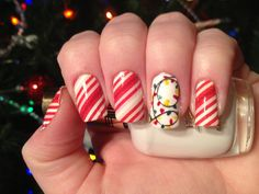 Candy canes and Christmas lights!