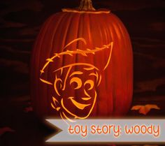 13 Spooktacular Disney Character Jack O'Lanterns: Toy Story's Woody | Disney Baby