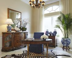 Classic transitional - traditional - home office - other metro - JMA INTERIOR DECORATION
