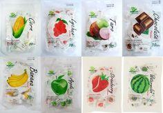 70G Chewy Milk Fruit Candy Toffee  Haoliyuan Brand Thai  Dessert Apple,Lychee