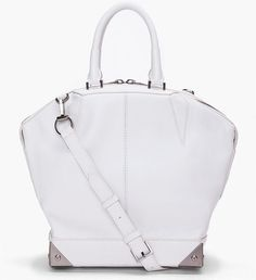 Alexander Wang Small White Emile Tote