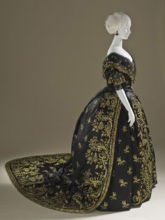 Court dress, ca 1845 Portugal, LACMA