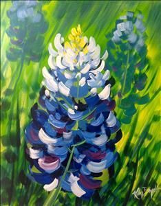 Learn how bluebonnets came to texas diana sprays and for Painting with a twist san diego