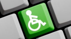 Contact Lee Wilson, Disabiity Access Consultant based in Melbourne Victoria  Green accessibility sign on keyboard