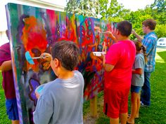 Mural painting at the Art Junction during last summers art camp.  Make plans for art camp 2015 coming in July!