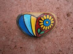 Painted rock - Heart