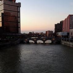 Downtown Rochester, NY. Genesee Brewery in the background