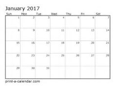 Image result for 2017 Monthly Calendar Printable One Page