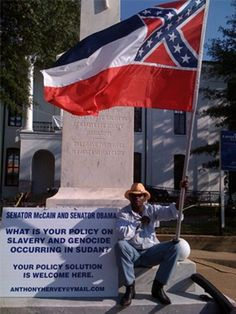 Well Known Black Pro-Confederate Flag Activist Killed During Apparent Car Chase… Southern Heritage, Southern Pride, Senator Mccain, Confederate Flag, Confederate Monuments, Civil War Photos, African American History, American Civil War, Birmingham Alabama