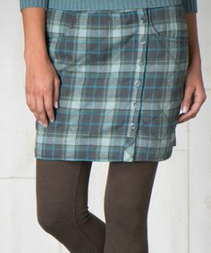 Another great find on #zulily! Turquoise Plaid Birddog Quilted Skirt - Women by Toad&Co #zulilyfinds