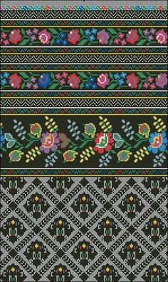 Lidiya Bebeshko Art added a new photo. Russian Embroidery, Hardanger Embroidery, Folk Embroidery, Embroidery Patterns, Cross Stitch Borders, Cross Stitching, Cross Stitch Patterns, Blackwork, Cross Stitch Cushion