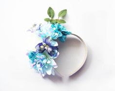 Dusty Pastel Blue Dreams Summer Floral Headpiece - DIY
