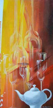 Glass Rhapsody III - original contemporary painting Contemporary Paintings, Design, Creative People, Creative, Photography, Painting, Art