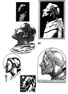 Herby dominikańskie 16 Wygląd św. Dominika na podstawie czaszki #dominikanie #dominican #sign #cross #dominik #herb