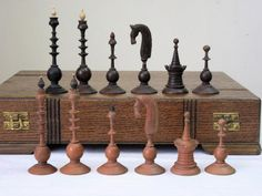 CHESSMEN- THIS SET HAS BEEN USED OVER THE YEARS CONSEQUENTLY IS NOT PERFECT,THERE IS A MINUS CHIP THE BASE AND TO LAST RING ON THE BLACK KING,THERE IS A MINUS CHIP TO CROWN ON THE WHITE QUEEN,THE STEM OF 3 KNIGHTS HAVE BEEN REPAIR AND ARE SLIGHTLY SHORTER,1 WHITE PAWN WAS PROFESSIONALLY RE-MADE IN THE PAST, THERE ARE SLIGHT TURNING AND COLOR DIFFERENCES AMONG THE PIECES,OTHER THAN GOOD FOR PLAY OR DISPLAY CONSIDERING THE AGEAS SHOW IN PHOTOSBOX- THERE ARE SIGN OF USAGE HERE AND THERE BUT…
