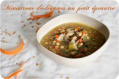 Minestrone de légumes au petit épeautre {une soupe complète pour un dîner rapide}