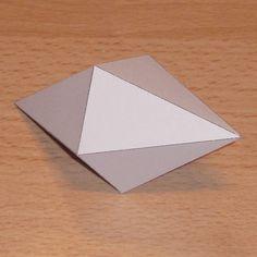 Paper model pentagonal dipyramid