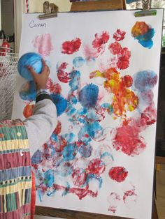 Have children paint with balloons instead of paintbrushes - great sensory activity!