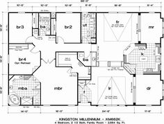 Manufactured Modular Home Floor Plans. Triple Wide Mobile HomesMobile ...