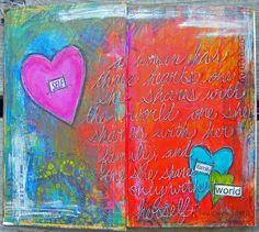 artbyjoleneeborn-3 hearts art  journal