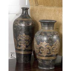Uttermost, 19318, Home Decor, Uttermost Mela Vase 19318 Accessories