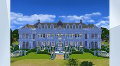 Check out this lot in The Sims 4 Gallery! - #ClearwaterEstate is the finest home in town. Filled wil luxury and wealth, your sims will feel like the King and Queen all day every day! #Estate #Massive #Villa #Mansion #Big #Palace #GetToWork #SimLinks #SimLinksHouse #BiggestBuild