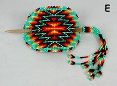 Lakota Sioux Hand Beaded Stick barrette