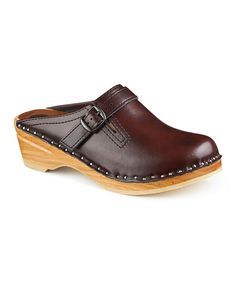 Look at this Black Cherry Raphael Leather Clog on #zulily today!