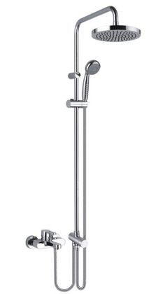 shower fixtures | Bath Shower Mixer Faucet with showerpipe and rain showerhead