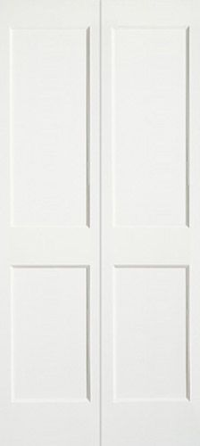 """Closet Doors: 8043 PRIMED FLAT PANEL BIFOLD SERIES: Redi-Prime® Doors TYPE: Bifold  Construction Type: Engineered All-Wood Stiles and Rails with Dowel Pinned Stile/Rail Joinery Panels: 3/8"""" Flat Panel"""