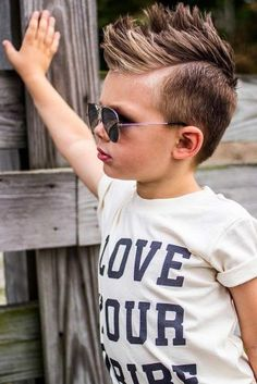 Trendy Boy Haircuts For Stylish Little Guys ★ Trendy Boys Haircuts, Little Boy Haircuts, Haircuts For Men, Little Boy Mohawk, Boys Mohawk, Toddler Hair, Mowhawk Hairstyles, Hairstyles With Bangs, Barbers