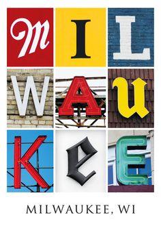 Milwaukee Typography Postcards!