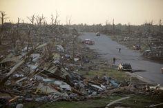 12 miles long and 1 mile wide... complete and utter destruction...gone ~ Joplin MO