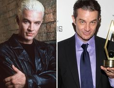 "James as he appeared on ""Buffy"", and as he appears today. Still eye candy!!"
