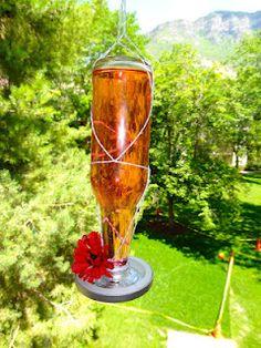 Homemade Hummingbird Feeder Mason Jar
