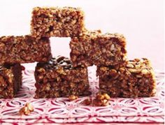 """I'm sure your kids have tried rice crispy treats, but have they ever had a chocolate rice crispy treat? Unlike the ones you would buy at the grocery made with lots of corn syrup, these get their sweet taste from brown rice syrup and some added nutrition from high-protein peanut and almond butters. Now, those treats that you may have avoided in the past may actually become something you'll be more than happy to give your little ones."" on goop.com. http://goop.com/recipes/chocolate-rice-crisp-wee-treats/"