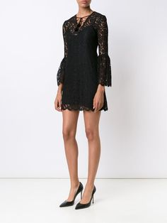 Rachel Zoe flared lace mini-dress
