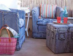 Ideias criativas: decorar a casa com jeans